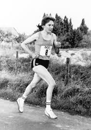 Joyce Smith competing in a marathon