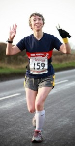Photo of me running the Keyworth Turkey Trot