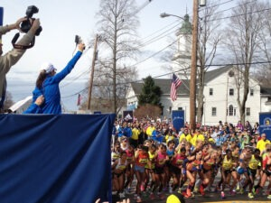 Starting the Boston Marathon