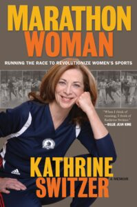 A photo of Kathrine Switzer's book