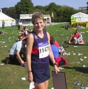 Christine Heaton after her first marathon