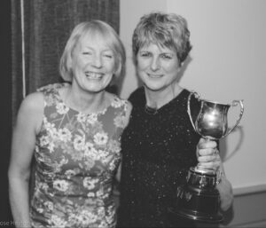 Christine Heaton with the running club Ladies' Captain