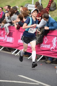 Approaching the finish line at the 2016 Plusnet Yorkshire Marathon