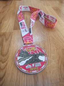 My medal from the Plusnet Yorkshire Marathon 2016
