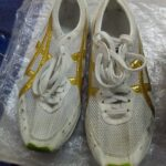Mara Yamauchi's marathon shoes made for her by Asics