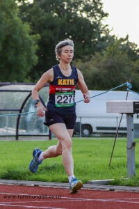Katie Holmes running 1500m at Charnwood AC Open