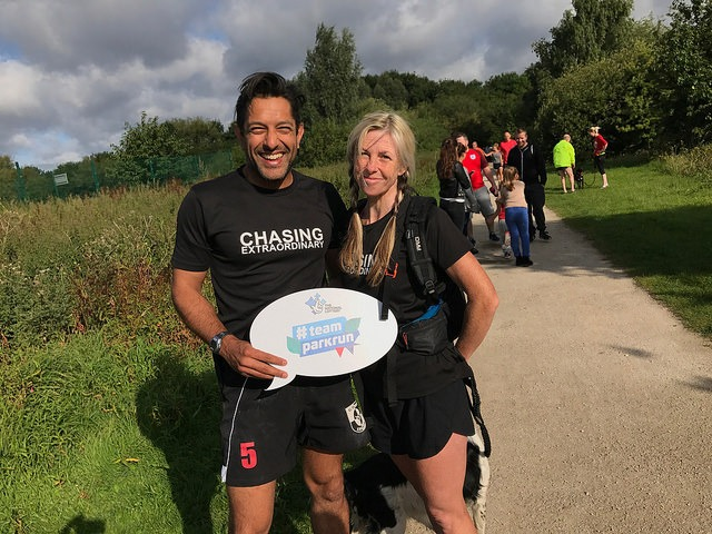 Nikki Love & Sharif Owadally at Colwick parkrun