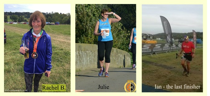 Rachel B, Julie & Ian - older runners at Equinox 24 hour race