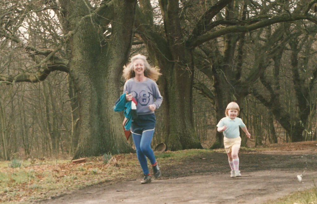 Maddy runner over 60 running with her daughter