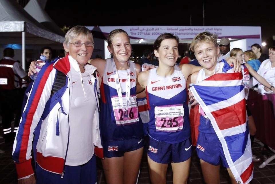 Eleanor Robinson Joasia Zakrzewski Ellie Greenwood Jo Meek at 100km World Championships 2014 Doha