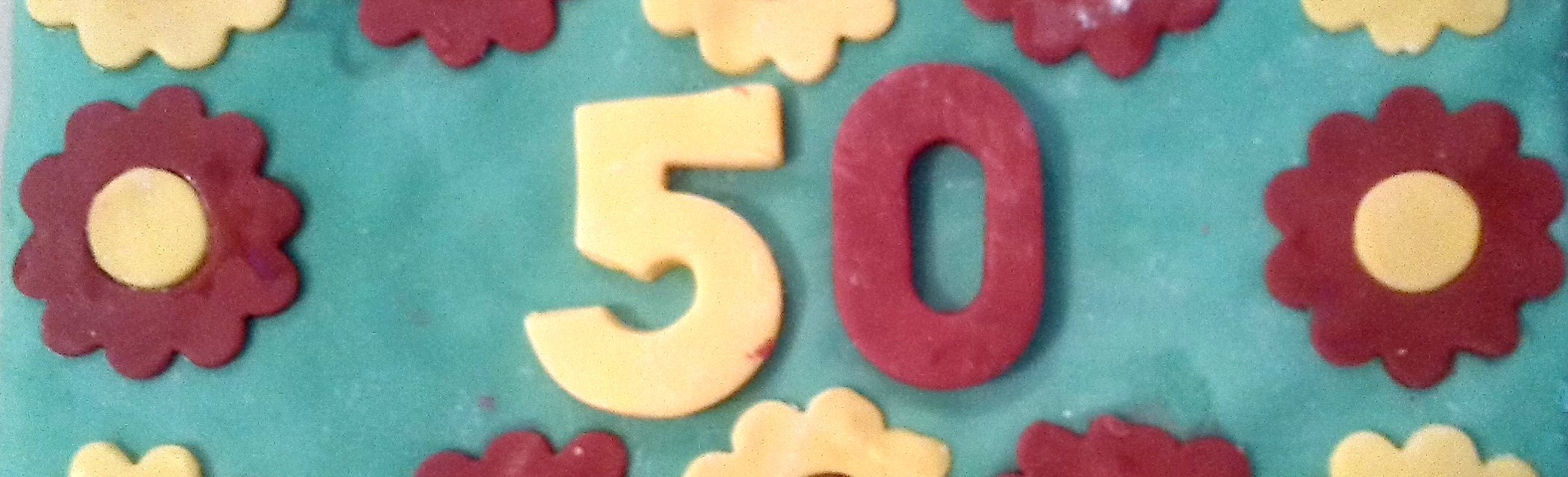 Picture of cake with 50 on