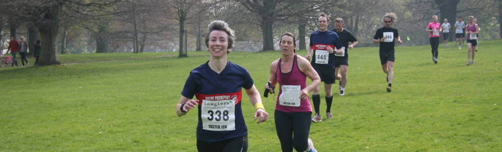 Photo of me running a 10k race