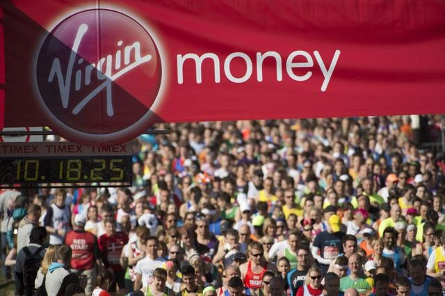 Start of the Virgin Money London Marathon 2014