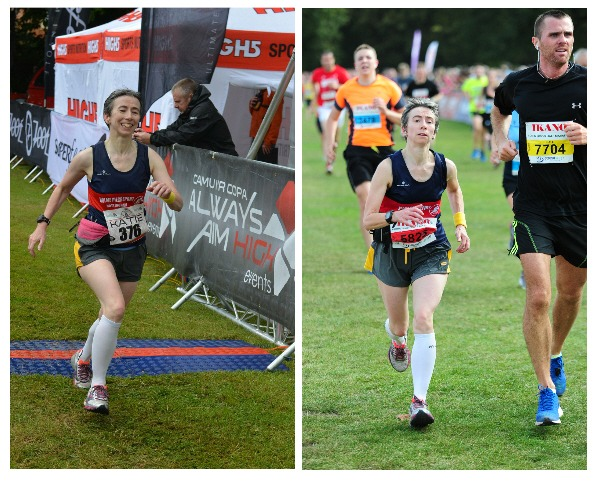 Finishing photos at two races