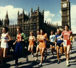 Promotional shot of runners on Westminster Bridge
