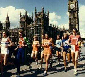 Promotional shot of runners on Westminster Bridge