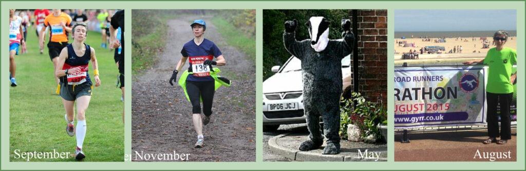Photos from 4 race in my half marathon challenge