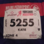My race number for the 2016 Plusnet Yorkshire Marathon