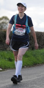 A walking interval during the 2016 Plusnet Yorkshire Marathon