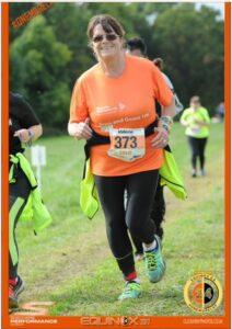 Valerie an over 60 runner at Equinox 24 hour run