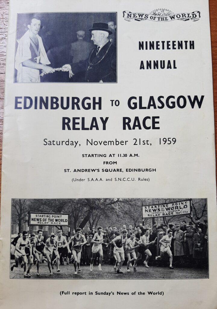 1959 Edinburgh to Glasgow relays programme