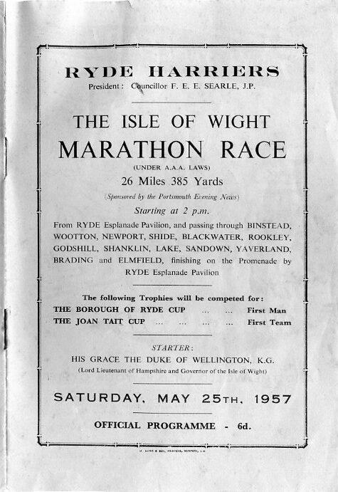 Isle of Wight Marathon 1957 programme