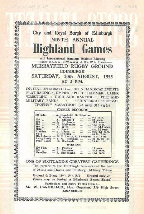 Scots Athlete magazine Edinburgh Highland Games Marathon advert