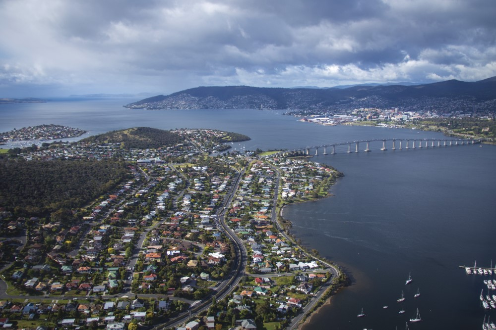 Hobart and the Tasman Bridge Tasmania