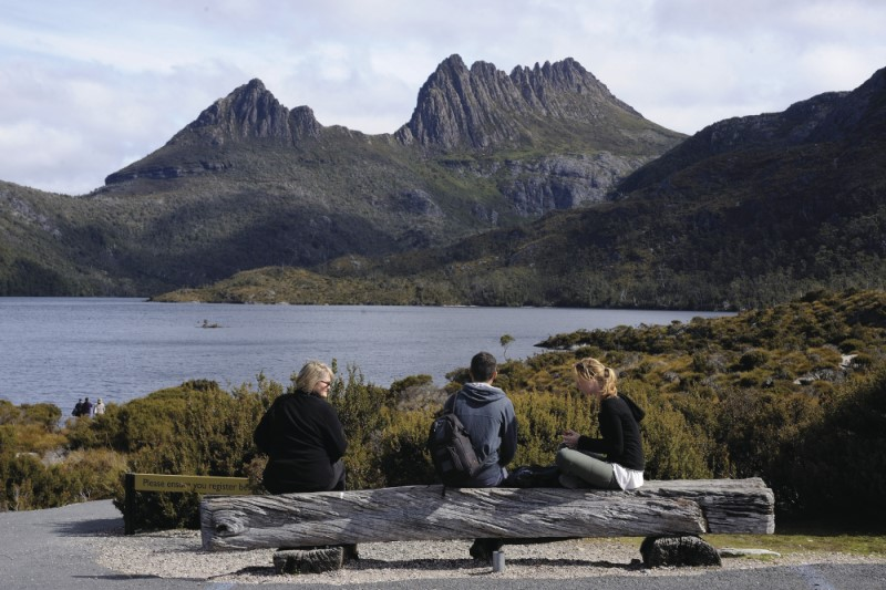 View of Cradle Mountain Tasmania
