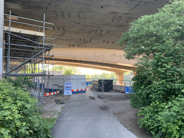 Scaffolding under Clifton Bridge