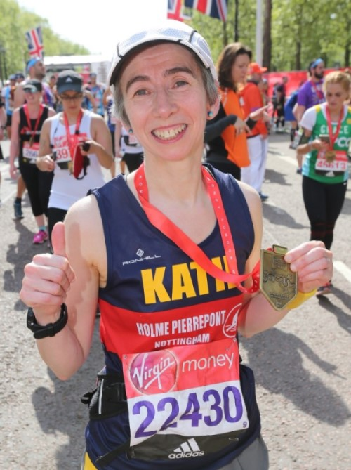 Katie Holmes of RunYoung50 at London Marathon