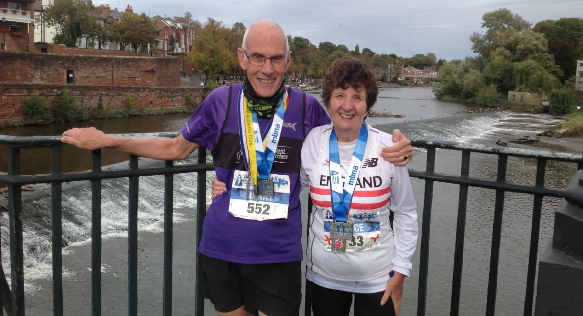 Joyce Bell runner over 60 at Chester Marathon