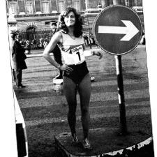 Leslie Watson London Marathon 1981