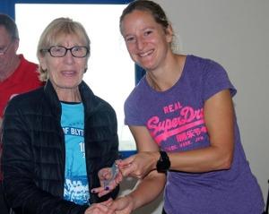 Angela Copson winner of v70 BMAF 10k Championships 2019