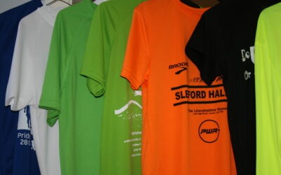 My three favourite race shirts