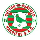 The logo of Sutton-in-Ashfield Harriers and AC
